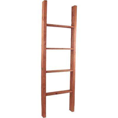 19 in. x 48 in. x 3 1/2 in. Barnwood Decor Collection Natural Barnwood Vintage Farmhouse 3-Rung Ladder