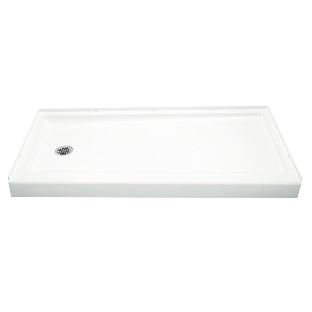STERLING Ensemble 30 in. x 60 in. Single Threshold Left-Hand Shower Base in White