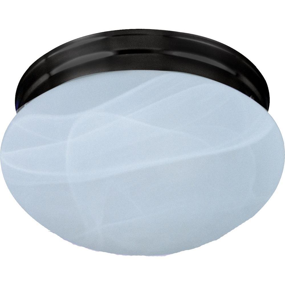 Maxim Lighting Essentials 1-Light Oil-Rubbed Bronze Flush Mount