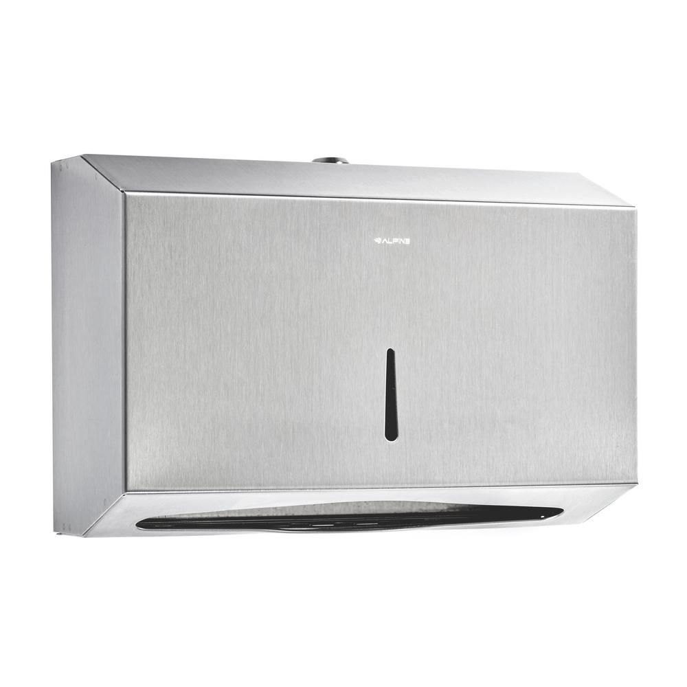Alpine industries C-Fold//Multifold Paper Towel Dispenser Brushed Stainless