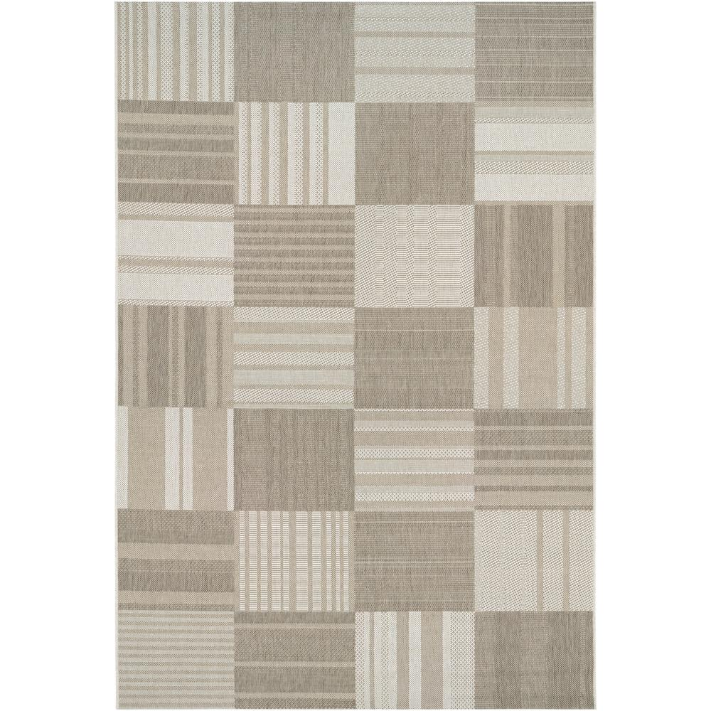 Couristan Afuera Patchwork Beige Ivory 7 Ft X 10 Ft