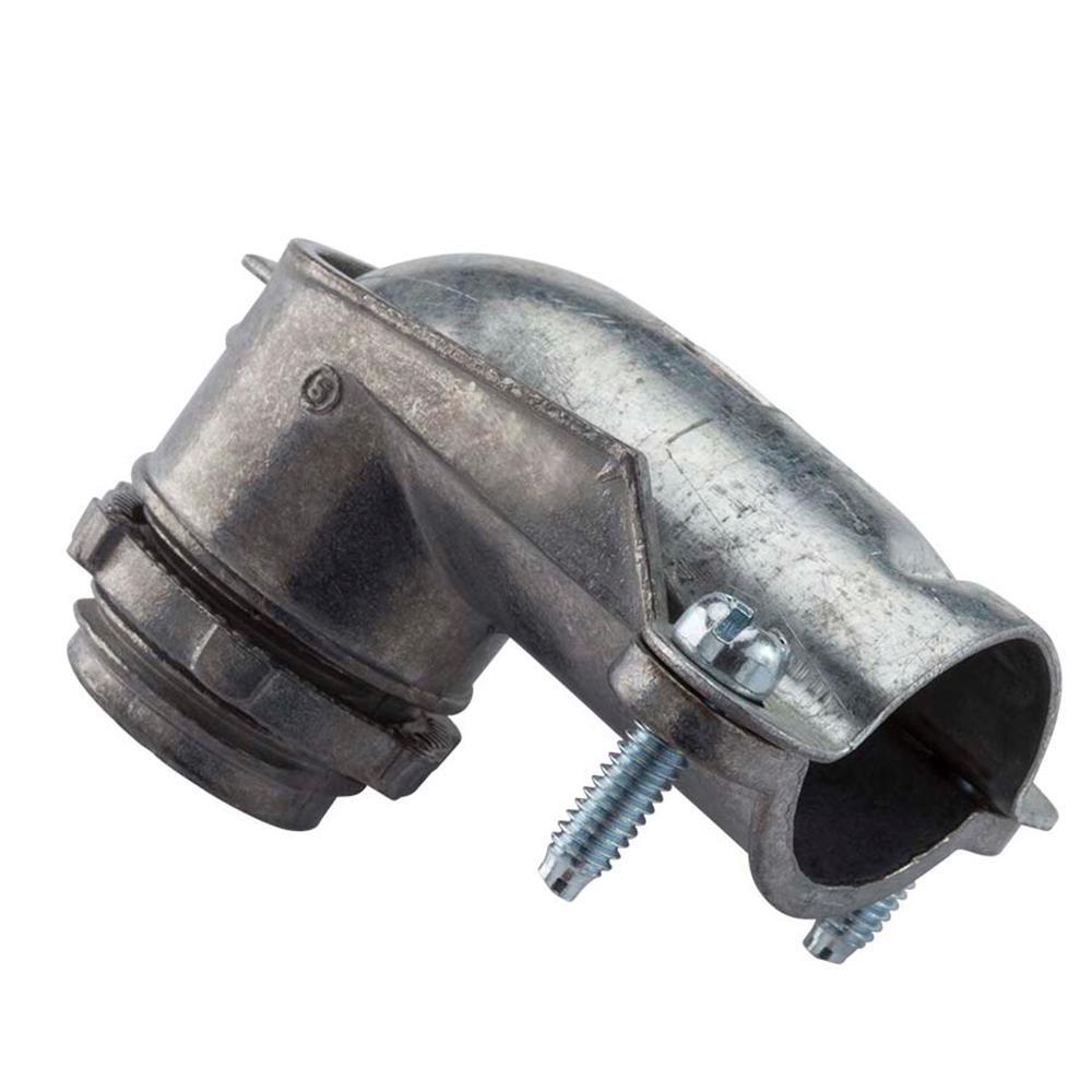 1-1/4 in. Flexible Metal Conduit (FMC) 90° Connector