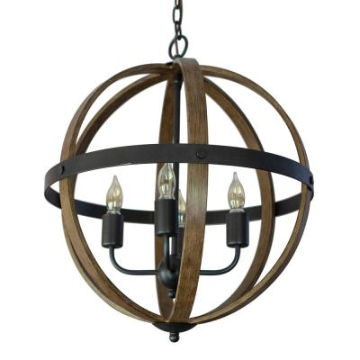 Mason 4-Light Black Pendant