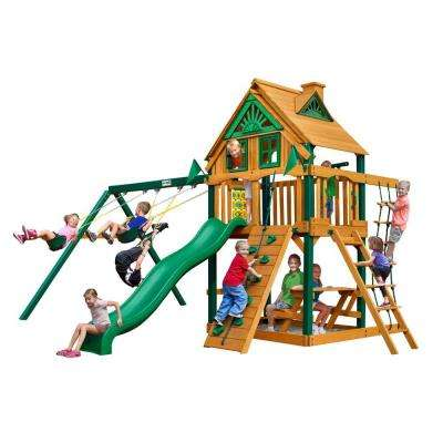 Chateau Tree House Swing Set with Timber Shield