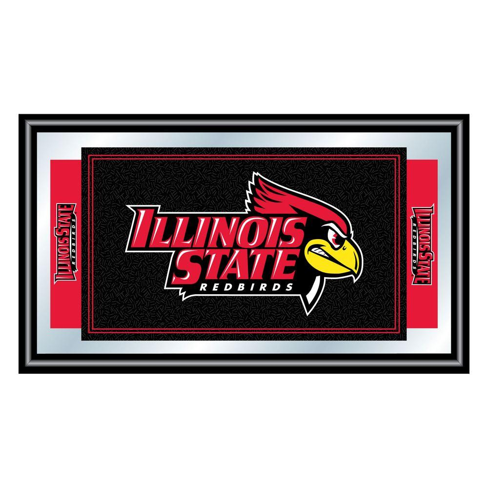 Trademark Illinois State University 15 in. x 26 in. Black Wood Framed Mirror