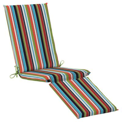19 x 74 Sunbrella Carousel Confetti Outdoor Chaise Lounge Cushion