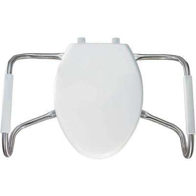 Medic-Aid STA-TITE Elongated Closed Front Toilet Seat in White