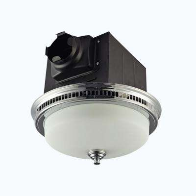 Decorative Chrome Plated 110 CFM Ceiling Bath Fan with Light and Glass Globe