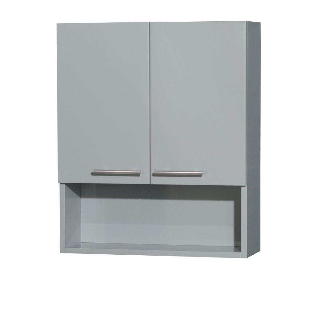 Wyndham Collection Amare 24 In W X 29 H 8 3 4 D Bathroom Storage Wall Cabinet Dove Gray