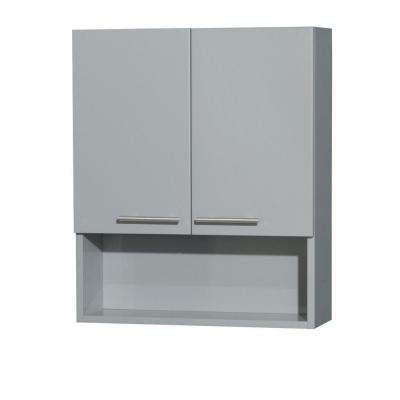 Amare 24 in. W x 29 in. H x 8-3/4 in. D Bathroom Storage Wall Cabinet in Dove Gray