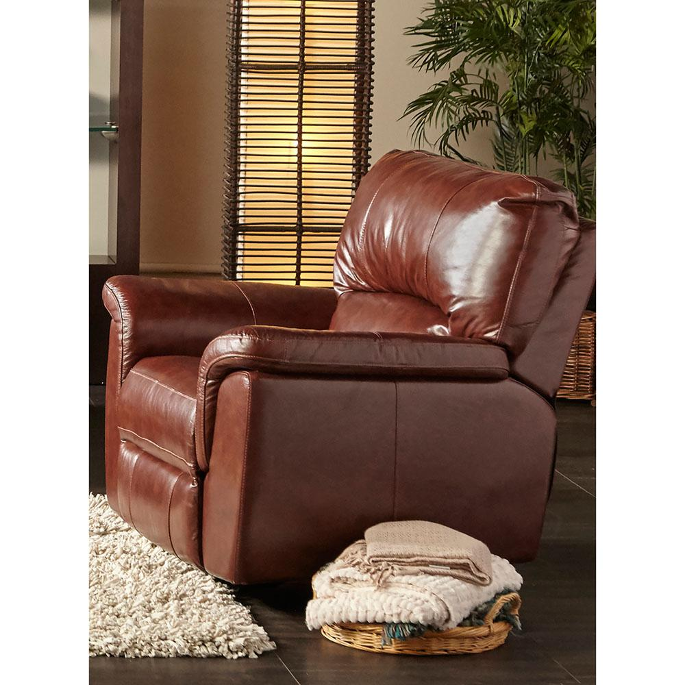 Charleston Brown Power Leather Recliner