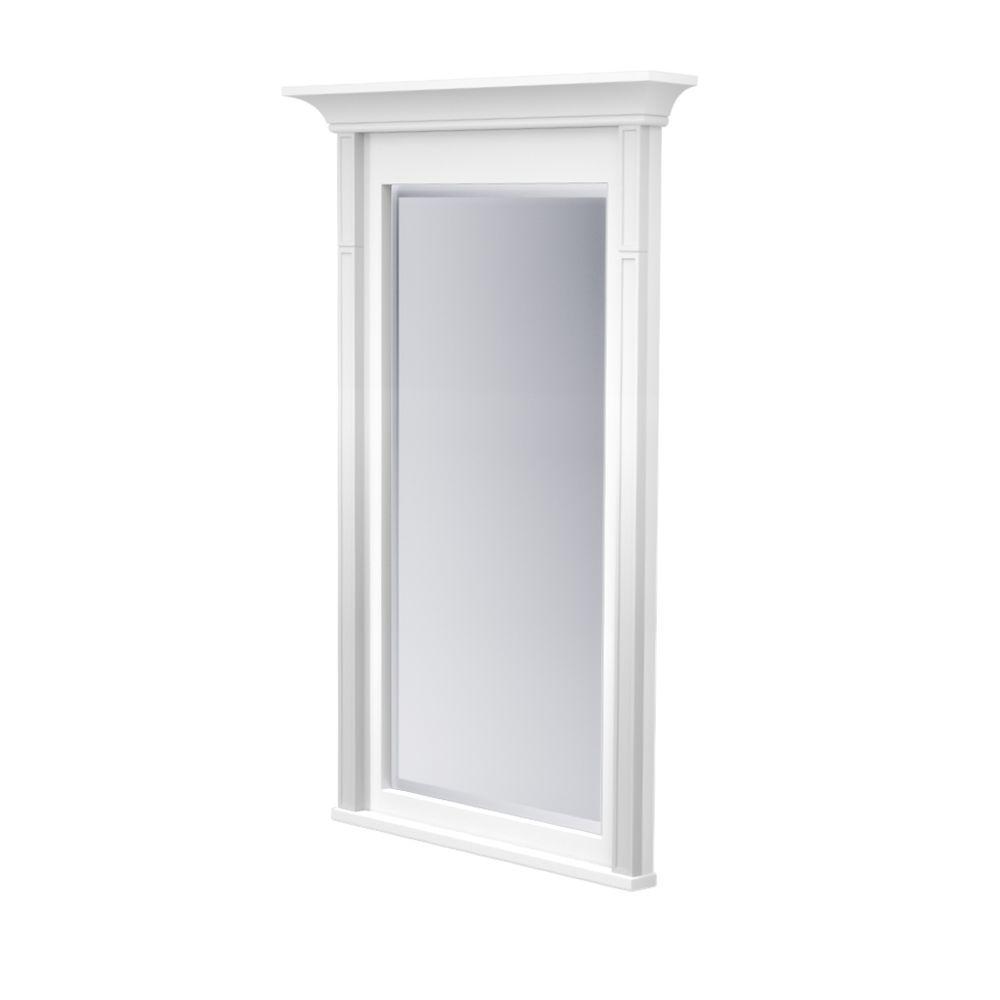 Kraftmaid 42 In L X 24 W Framed Wall Mirror Dove White