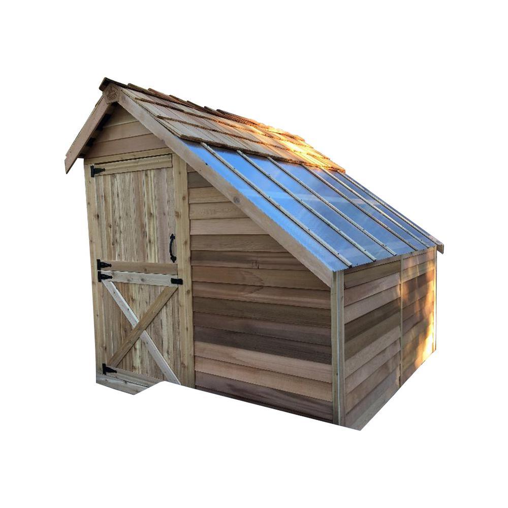 Sunhouse 8 ft. x 8 ft. Western Red Cedar Garden Shed