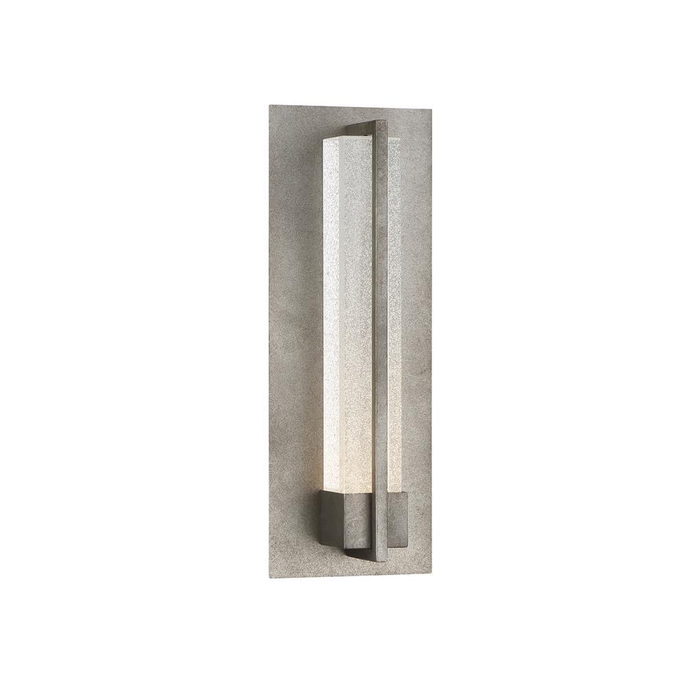 Eurofase Pari 1 Light Antique Silver Integrated Led Outdoor Wall