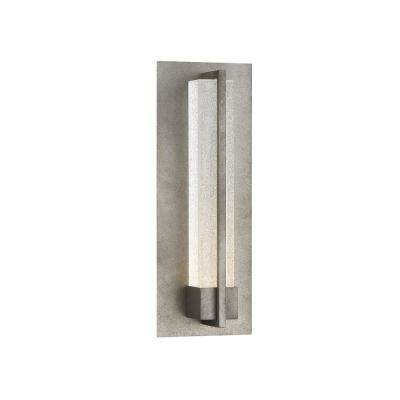 Pari 1-Light Antique Silver Integrated LED Outdoor Wall Sconce