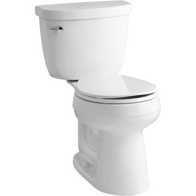 Cimarron Complete Solution 2-Piece 1.28 GPF Single Flush Round Toilet in White, Seat Included