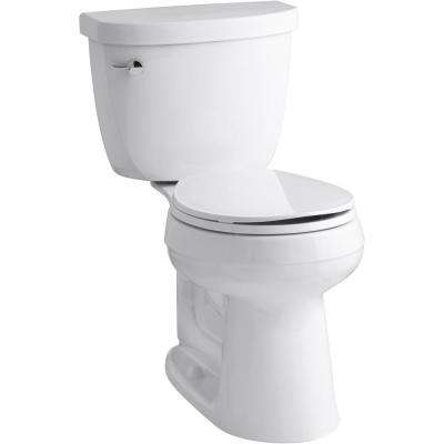 Cimarron 2-Piece Complete Solution 1.28 GPF Single Flush Round Toilet in White, Slow-Close Seat Included (3-Pack)