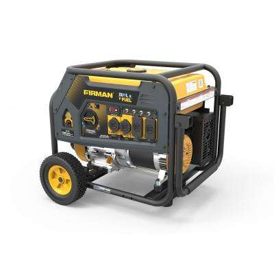5700-Watt Hybrid Dual Fuel Propane/Gas Powered Portable Generator with Recoil Start
