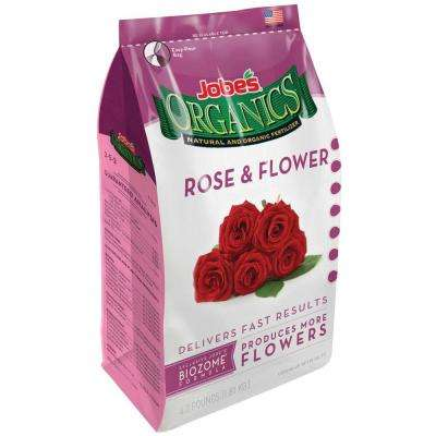 4 lb. Organic Rose and Flower Plant Food Fertilizer with Biozome, OMRI Listed