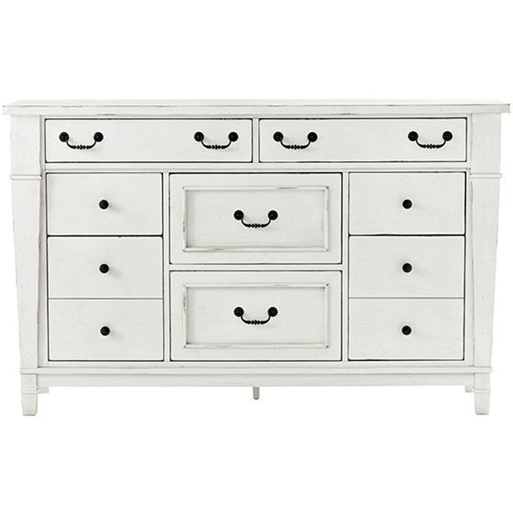 Bridgeport 8-Drawer Antique White Dresser 1872600460