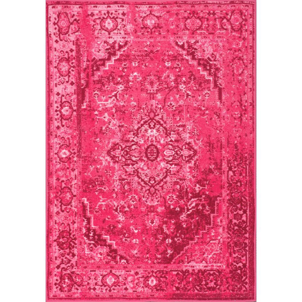 Nuloom Vintage Reiko Pink 5 Ft X 8 Area Rug