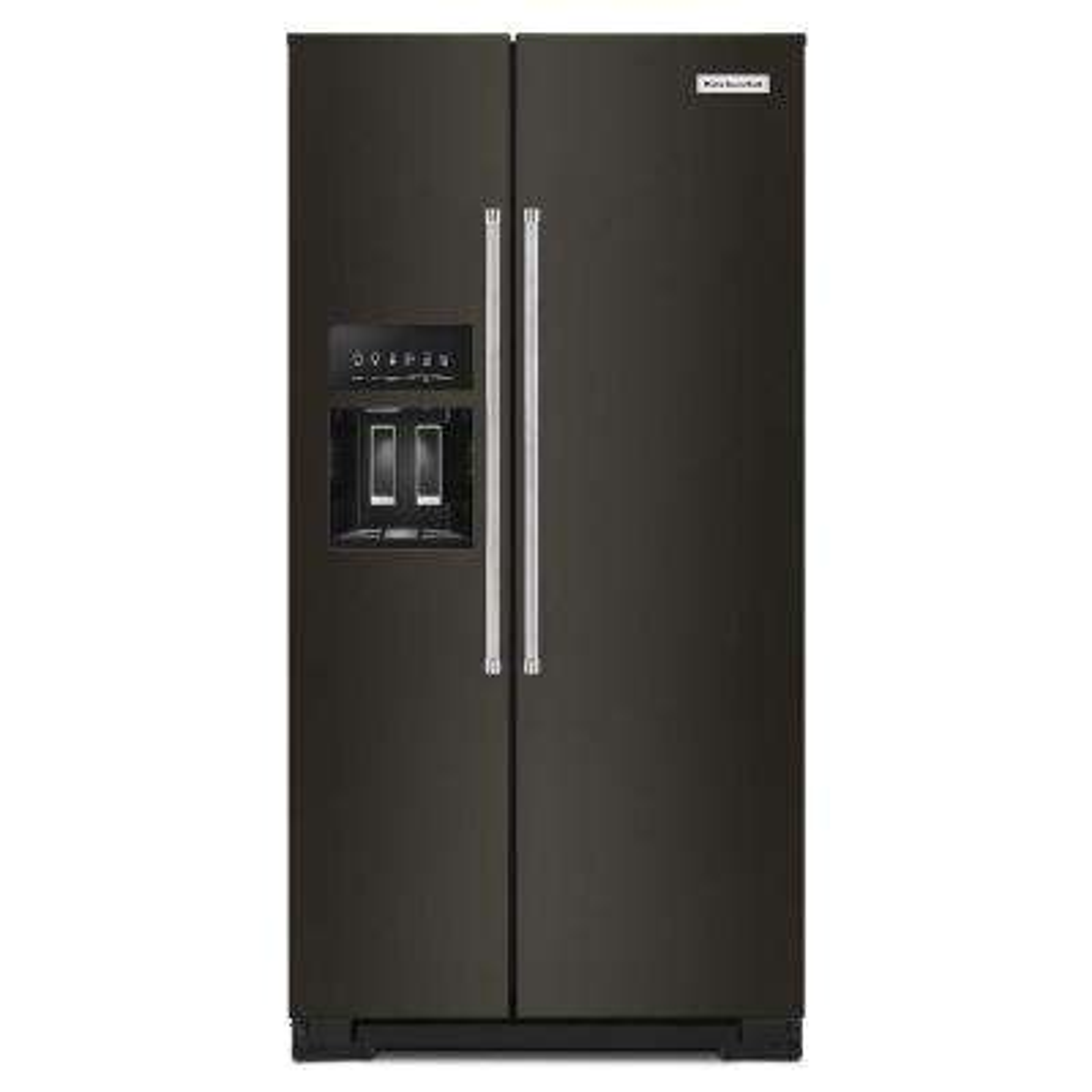 36 in. W 22.6 cu. ft. Side by Side Refrigerator in PrintShield Black Stainless Steel, Counter Depth