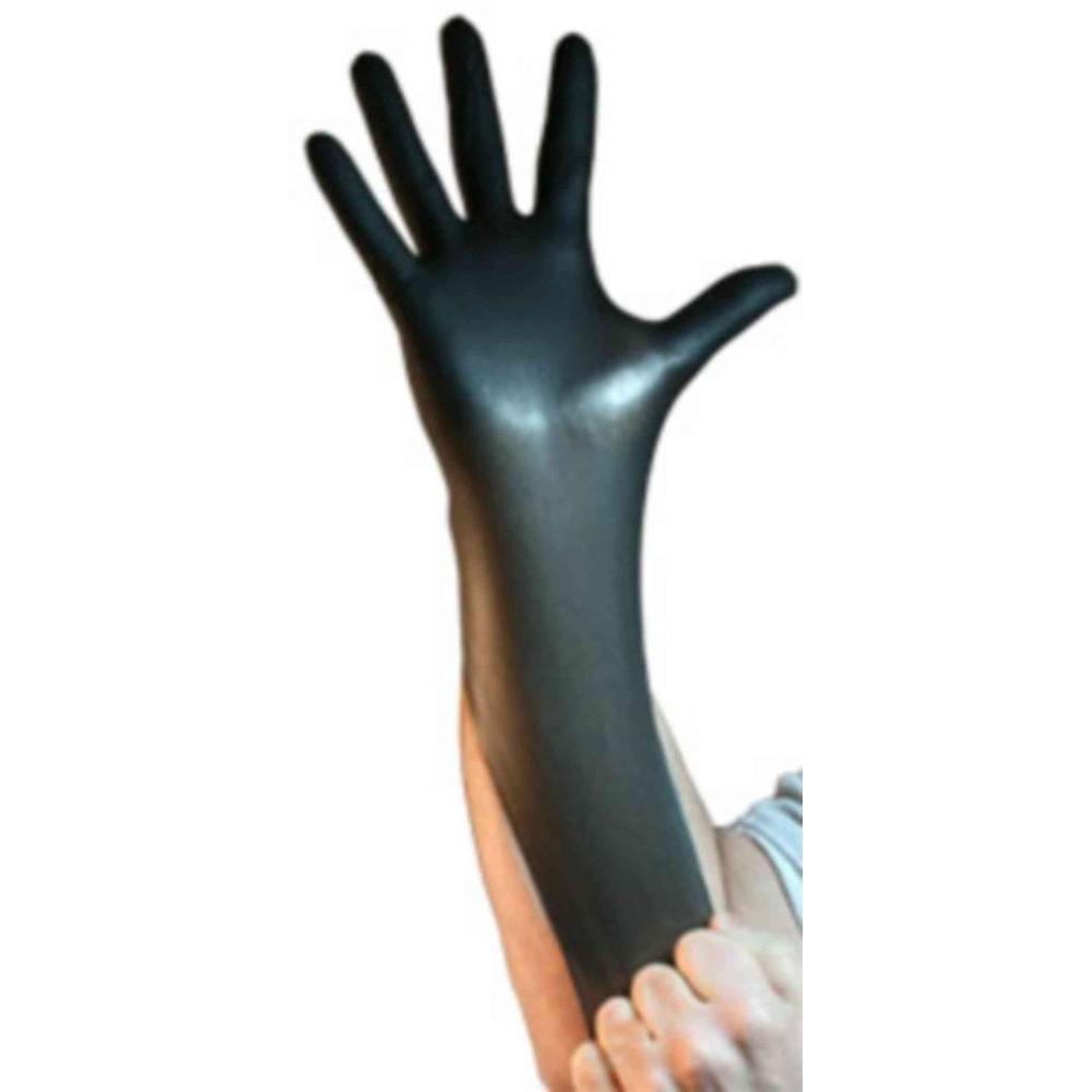 Venom Steel X-Large Black Nitrile Gloves