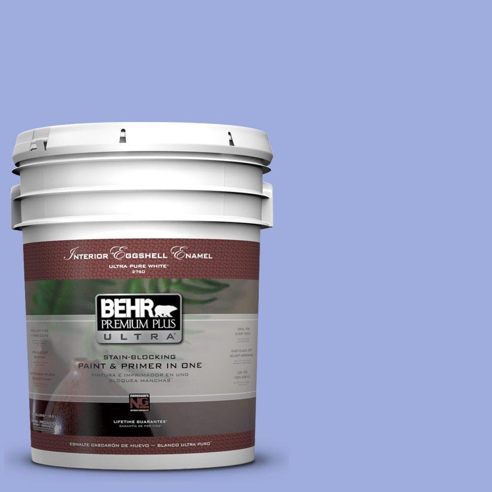 BEHR Premium Plus Ultra 5-gal. #P540-4 Lavender Sky Eggshell Enamel Interior Paint