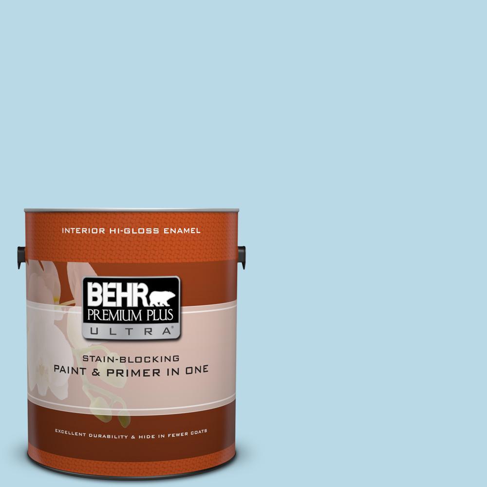 behr premium plus ultra 1 gal m490 1 breezy blue hi. Black Bedroom Furniture Sets. Home Design Ideas