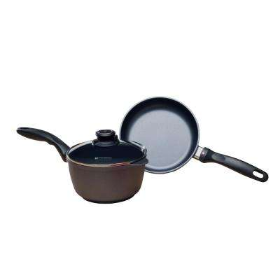 3-Piece Fry Pan and Sauce Pan Set