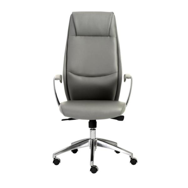 Eurostyle Crosby Gray High Back Office Chair 00472GRY