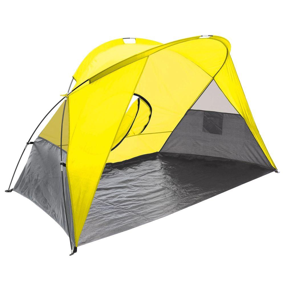 Picnic Time Cove Sun Shelter in Yellow Grey and Silver