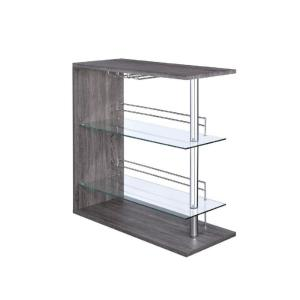 Contemporary Weathered Grey Bar Table