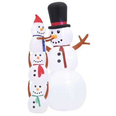 10 ft. Inflatable Snowman Scene