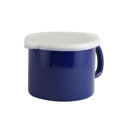Nessa Blue Plastic Measuring Cup with Lid