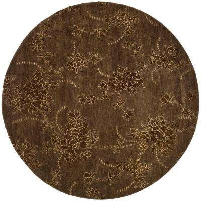 Soho Brown 6 ft. x 6 ft. Round Area Rug