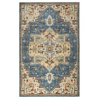 Bennington Medium Blue 9 ft. 10 in. x 12 ft. 6 in. Area Rug