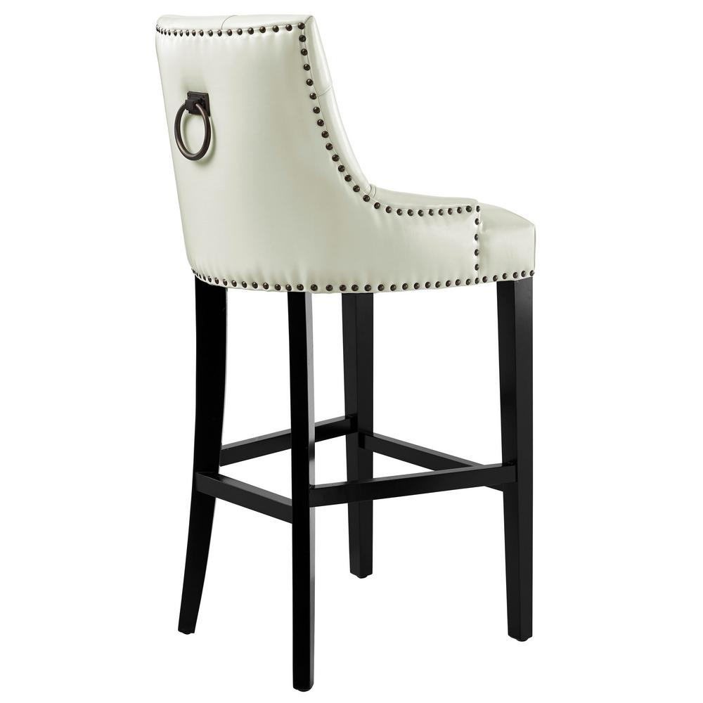 Tov Furniture Uptown Cream Barstool Tov Bs18 The Home Depot