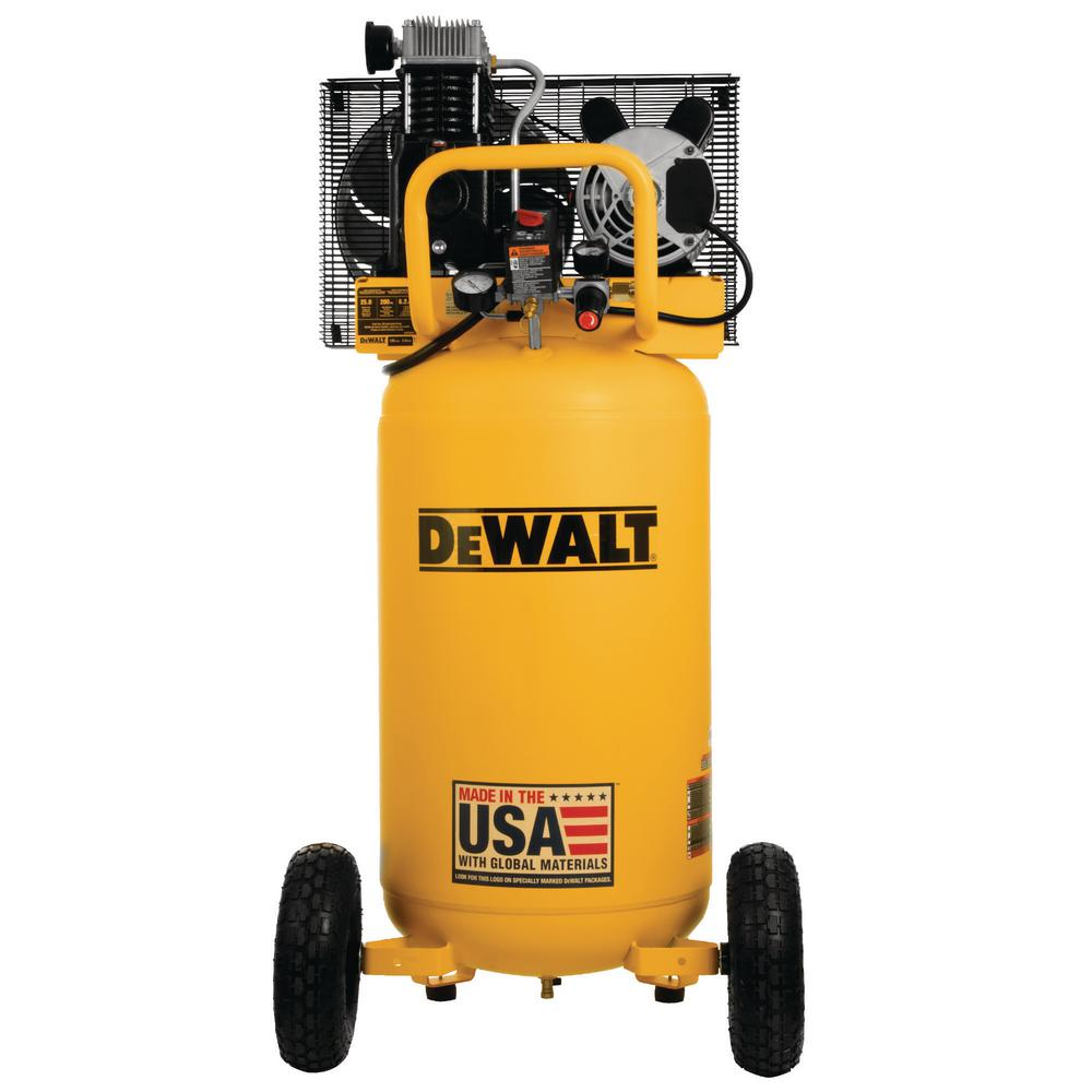 DeWalt DEWALT 25 Gal. 200 PSI Oil Lubed Belt Drive Portable Vertical Electric Air Compressor