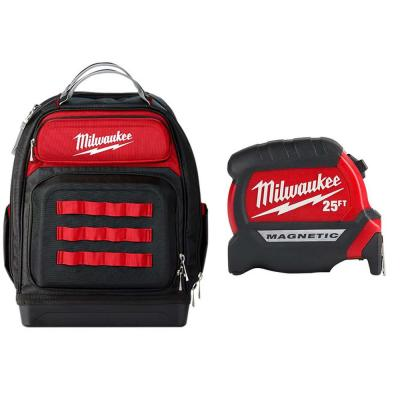 15 in. Ultimate Jobsite Backpack with 25 ft. x 1 in. Compact Magnetic Tape Measure