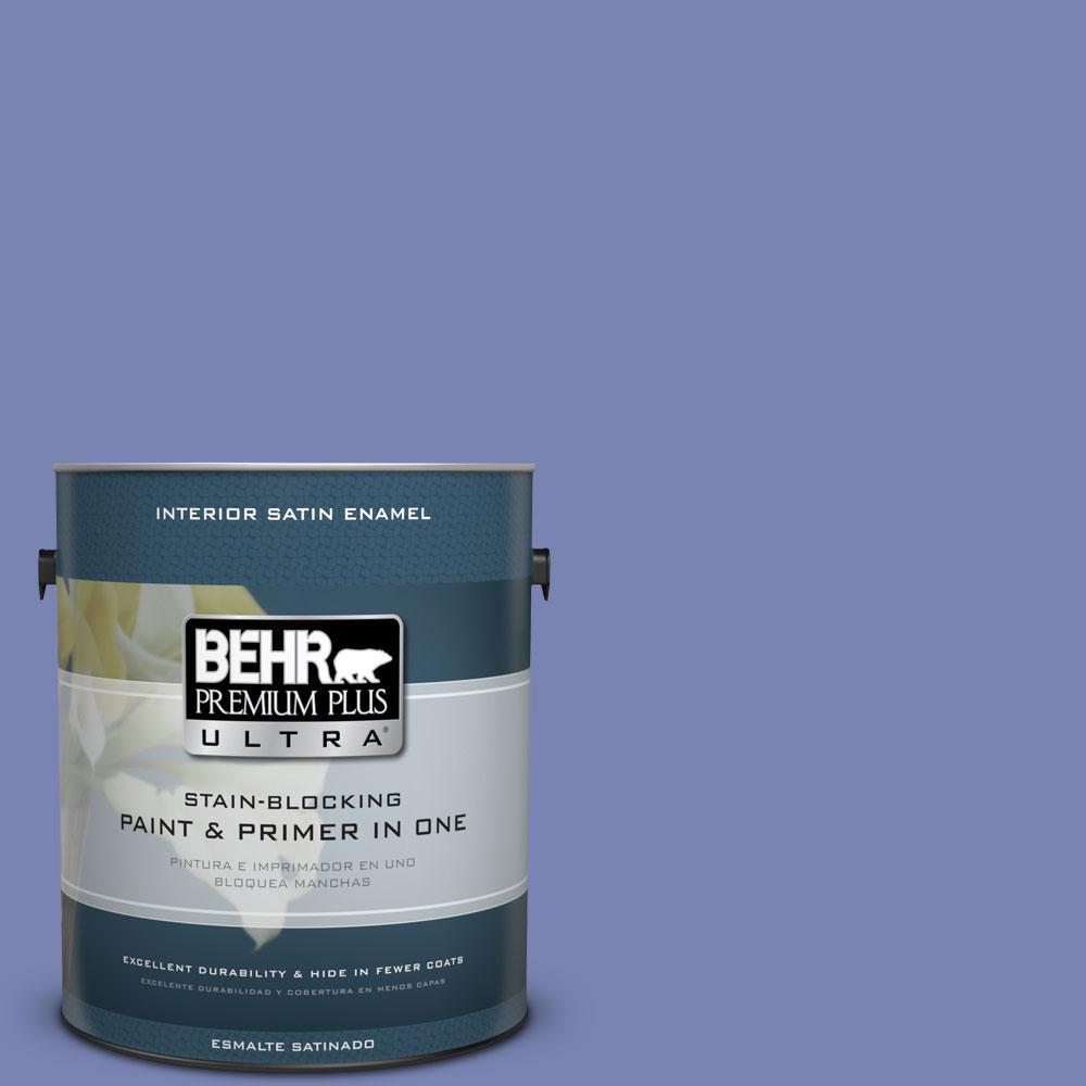 BEHR Premium Plus Ultra 1-gal. #610B-5 Corsican Purple Satin Enamel Interior Paint