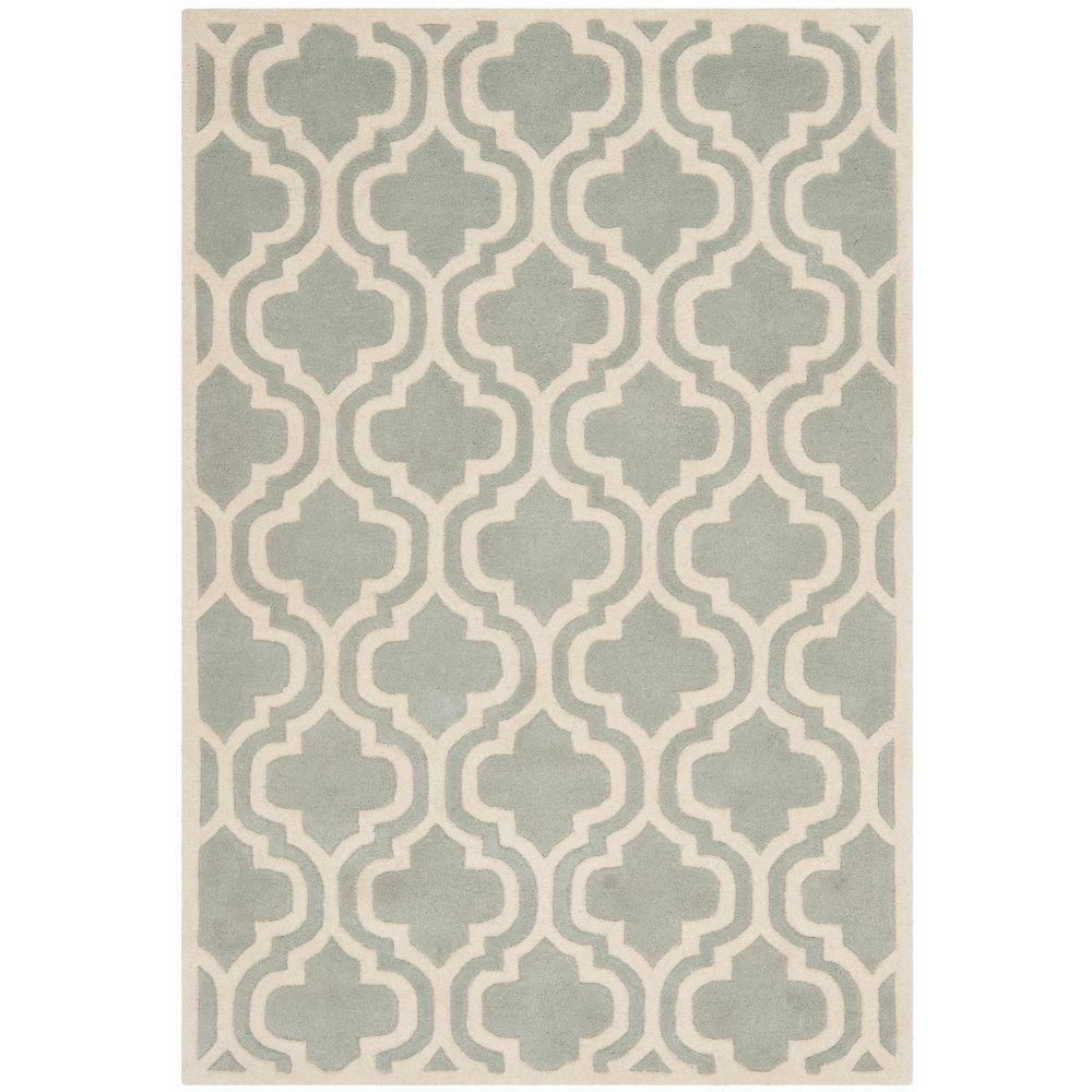 Safavieh Chatham Grey/Ivory 4 ft. x 6 ft. Area Rug