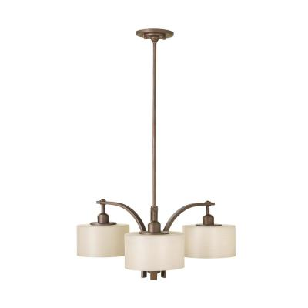 Sea Gull Lighting Sunset Drive 3-Light Corinthian Bronze Contemporary Transitional Hanging Kitchen Drum Chandelier