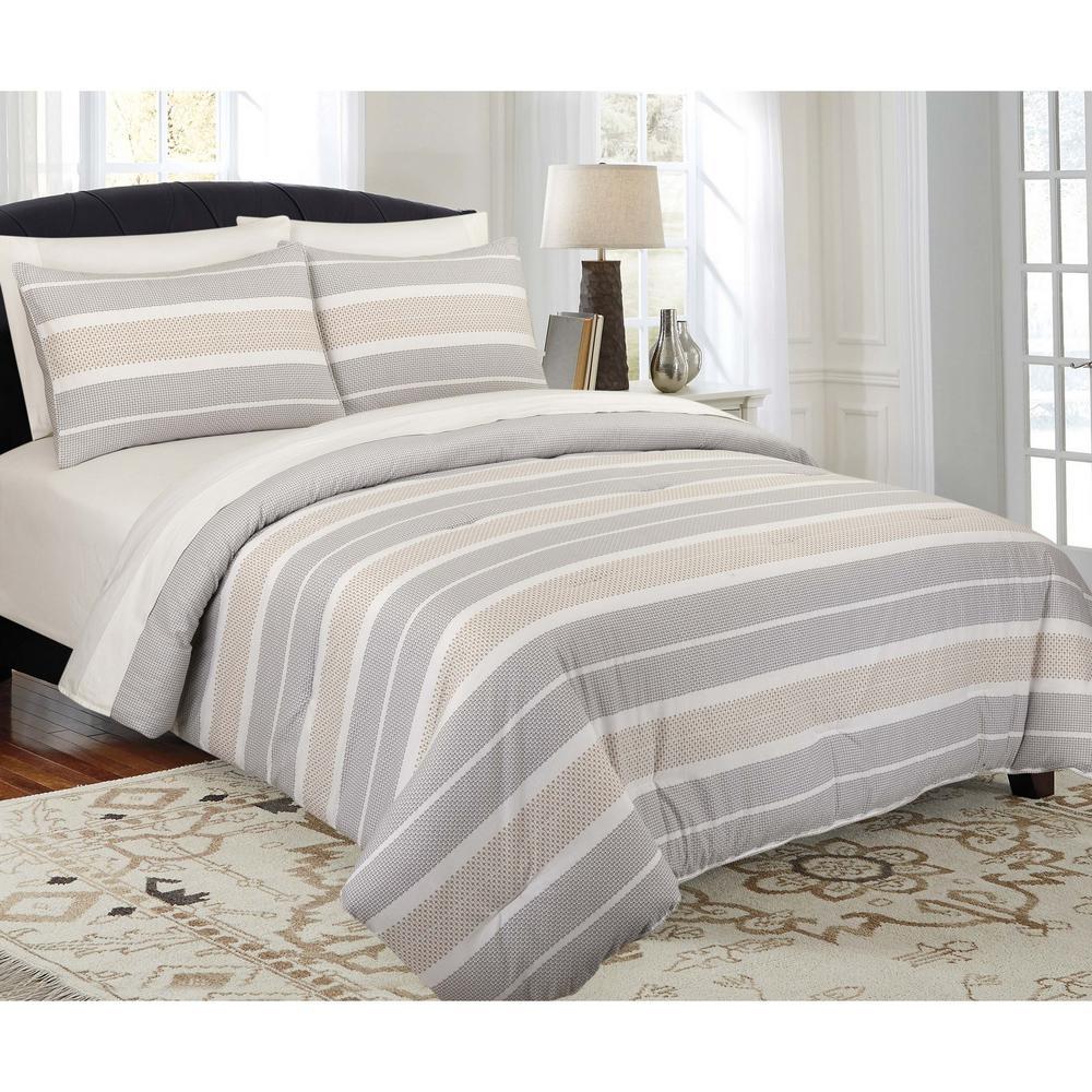 Modernist Modern Stripe King Comforter Set