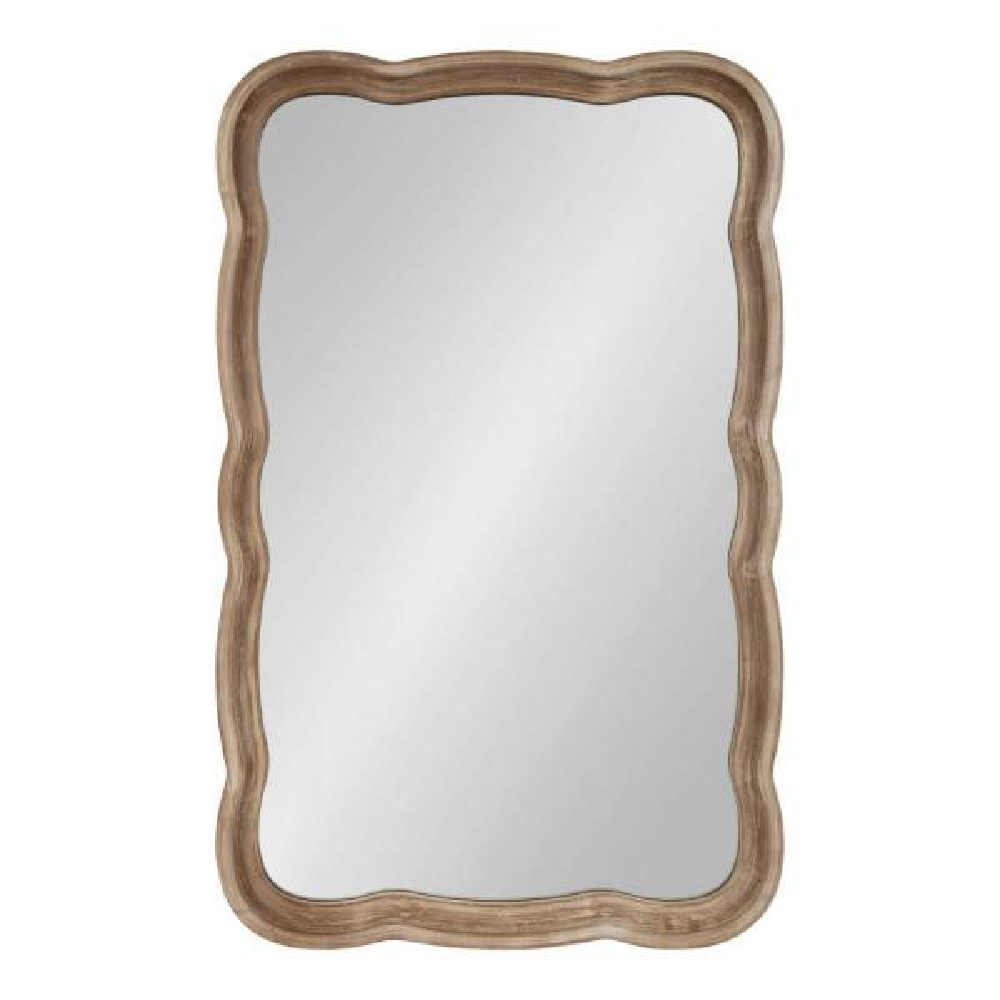 Medium Rectangle Rustic Brown American Colonial Mirror (38 in. H x 23.5 in. W)