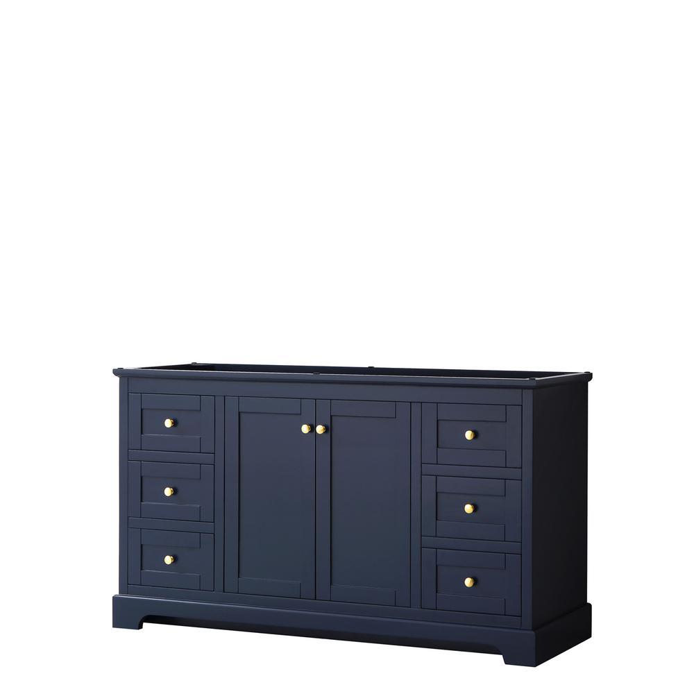 Avery 59.25 in. W x 21.75 in. D Bathroom Vanity Cabinet Only in Dark Blue