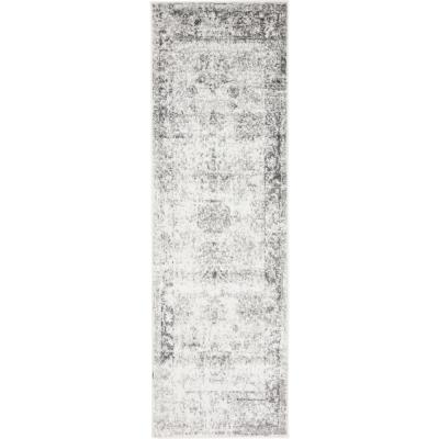 Sofia Casino Gray 2' 0 x 6' 7 Runner Rug
