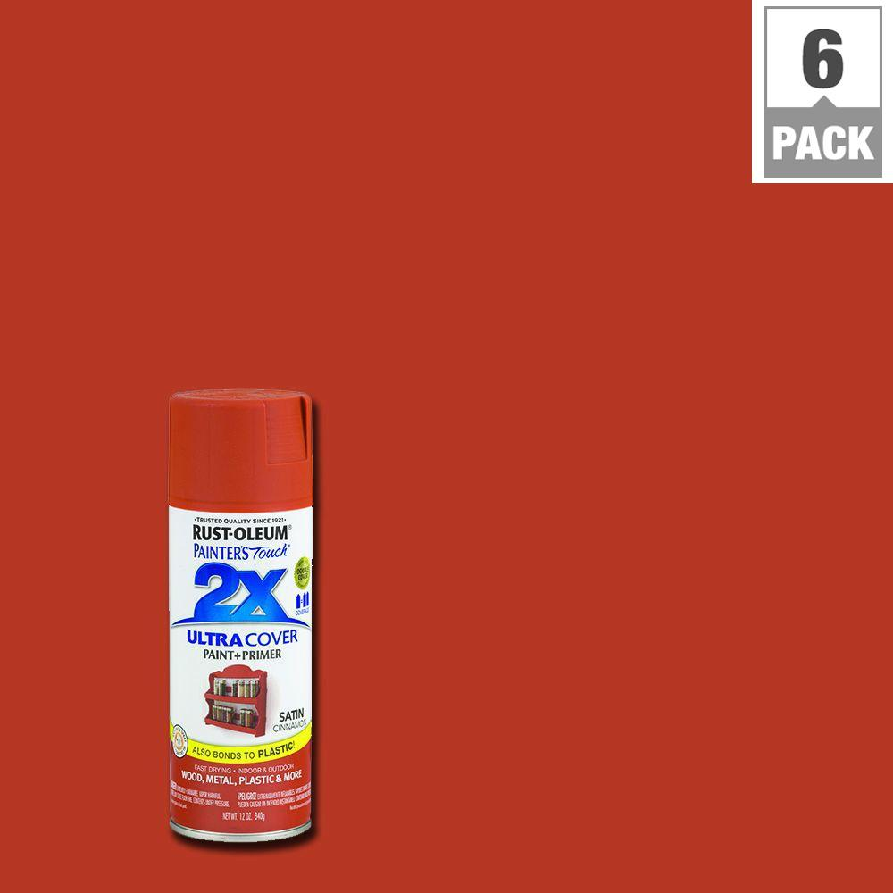 12 oz. Satin Cinnamon General Purpose Spray Paint (6-Pack)
