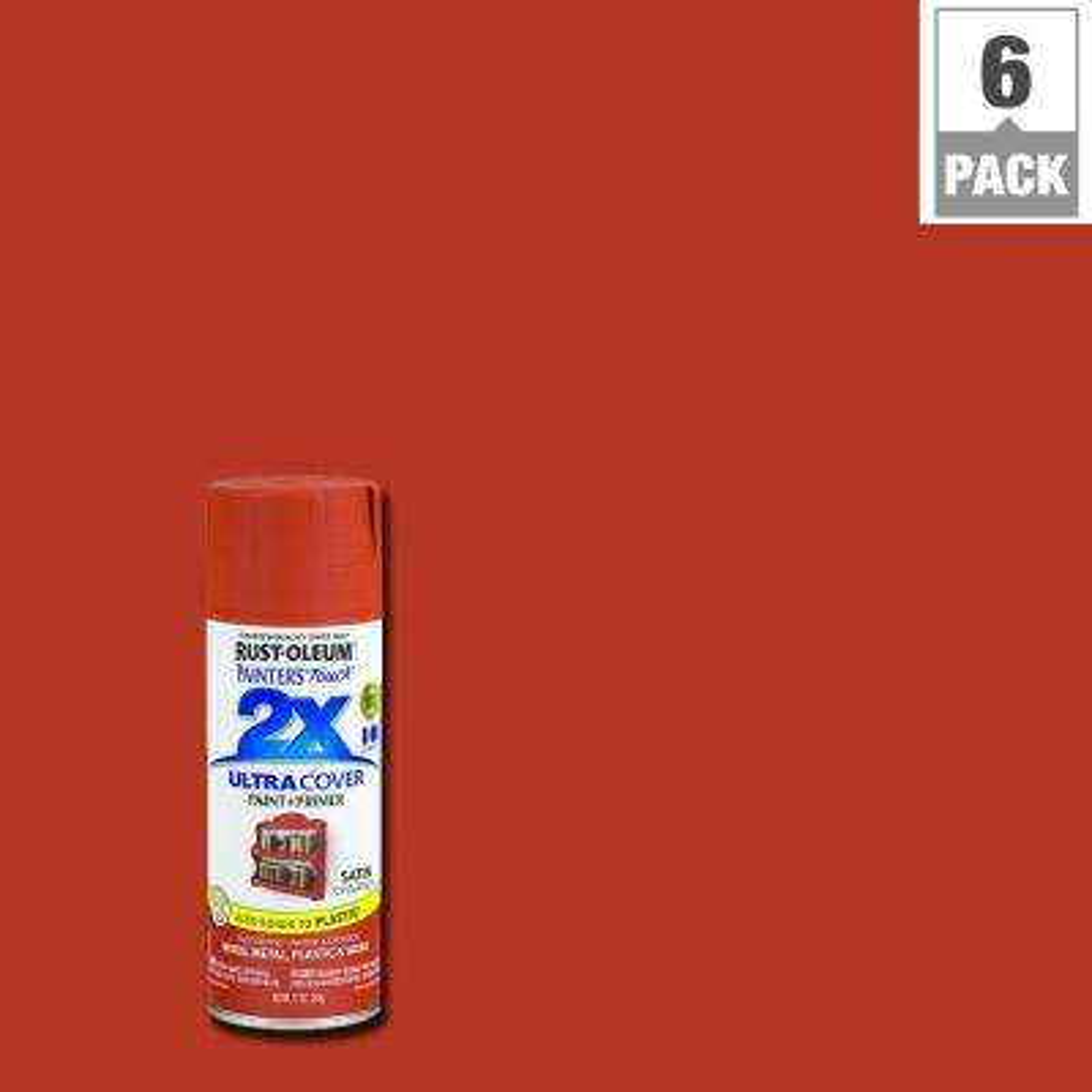 12 oz. Satin Cinnamon General Purpose Spray Paint (6-Pack)