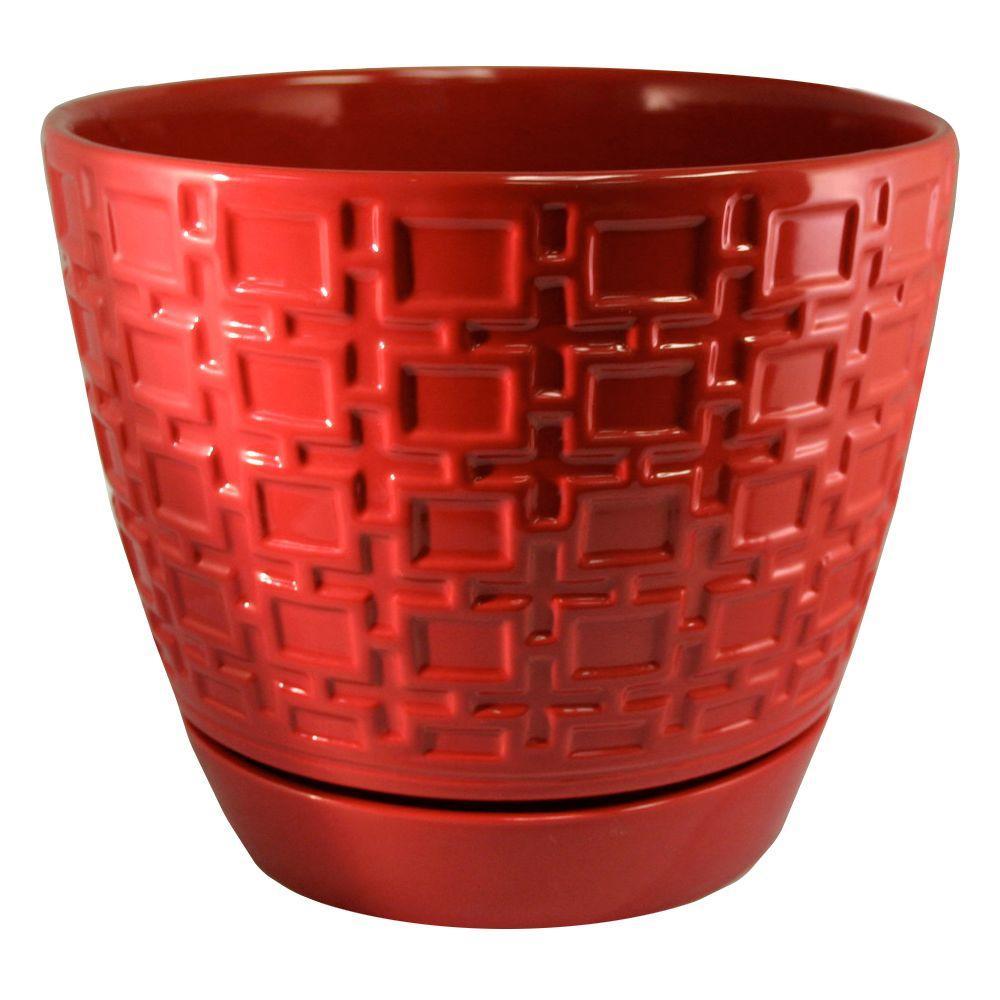 Trendspot 9 In Cubelinx Ceramic Planter Lejw1030 9r The Home Depot
